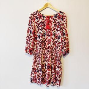 Bohemian Cotton Long Sleeve Dress